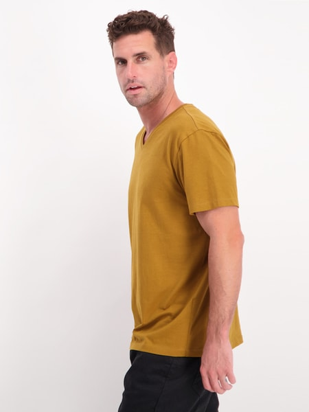 Mens Short Sleeve V Neck T Shirt