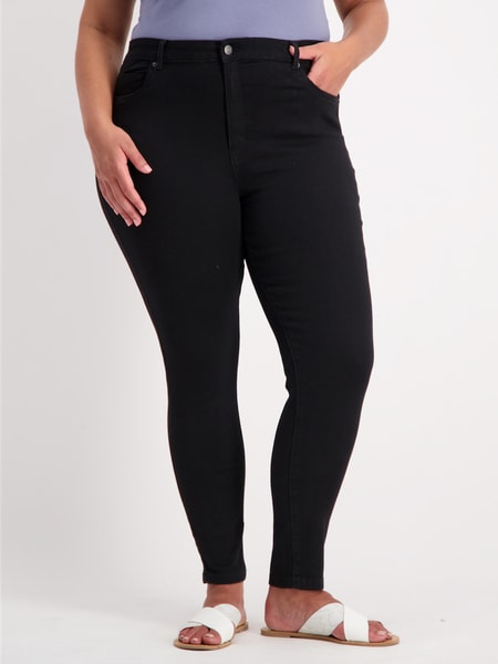 Womens Plus High Rise Soft Touch Jean