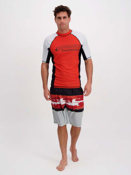 Mens Short Sleeve Rashguard