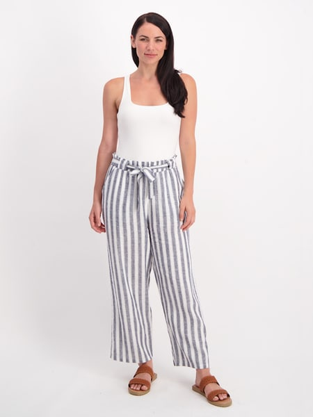 Womens Paperbag Waist Pant