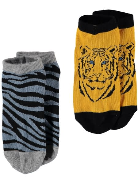 Boys 2 Pack Low Cut Print Socks