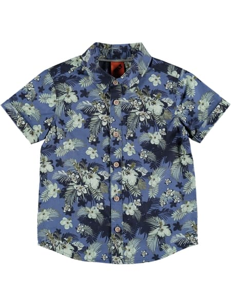 Toddler Boys Short Sleeve Printed Shirt