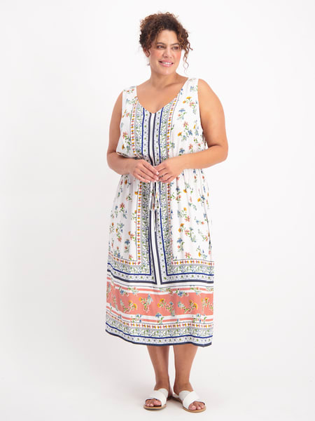 Womens Plus Isobelle Vneck Maxi Dress