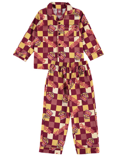 QLD State of Origin Toddler Flannel Pj Set