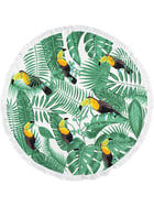 Adult Round Velour Toucan Beach Towel