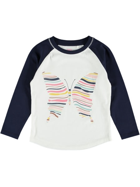Toddler Girls Raglan Print Tee