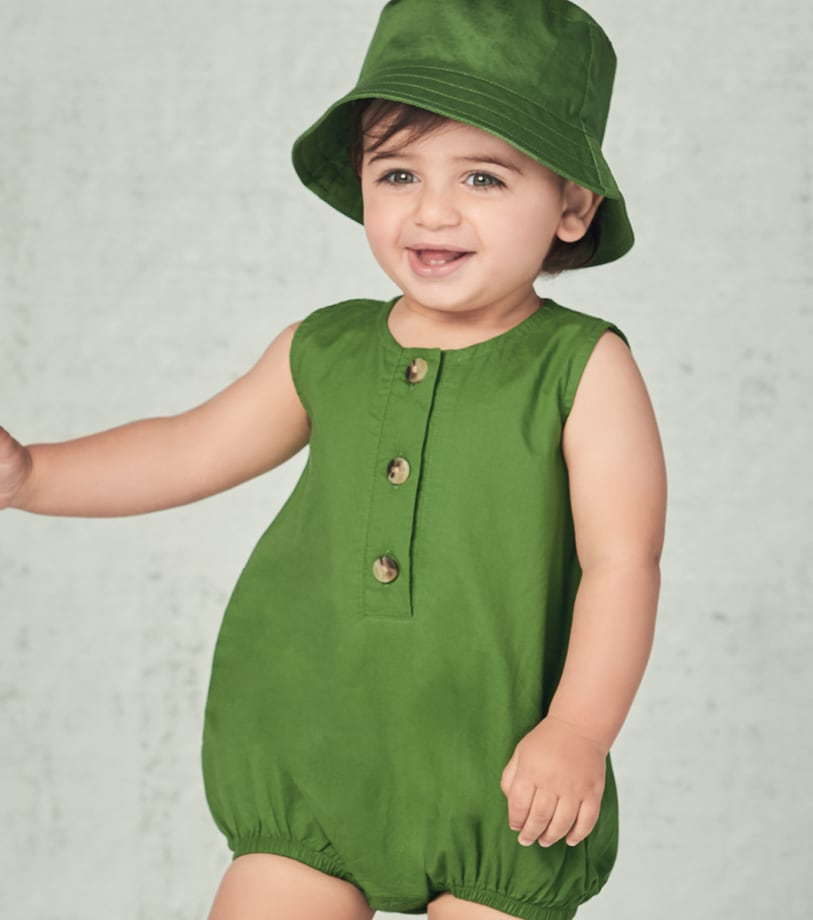 Baby Spring Sunsuits & Bucket Hats