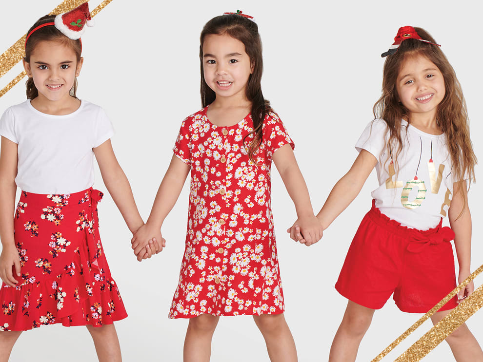 GIRLS CHRISTMAS CLOTHES