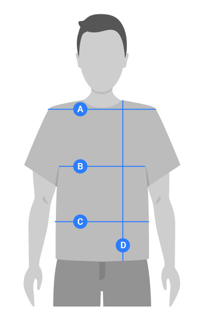 Mens Tops Measuring Guide